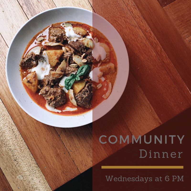 6pm-Community Dinner